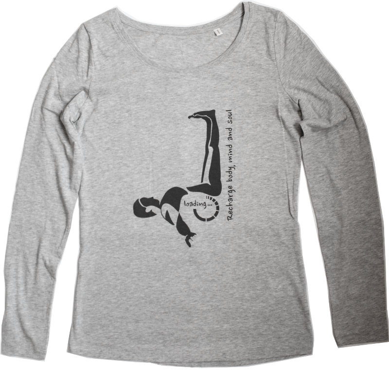 Yogashirt Motiv Viparita Karani