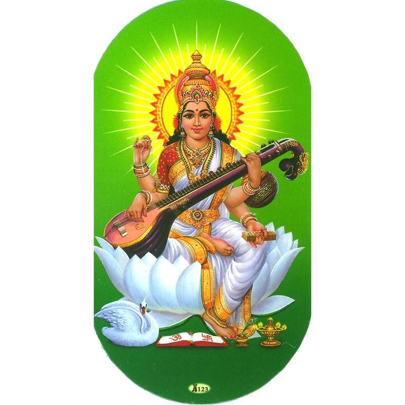 Aufkleber Saraswati