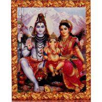Aufkleber Shiva Parvati Ganesha
