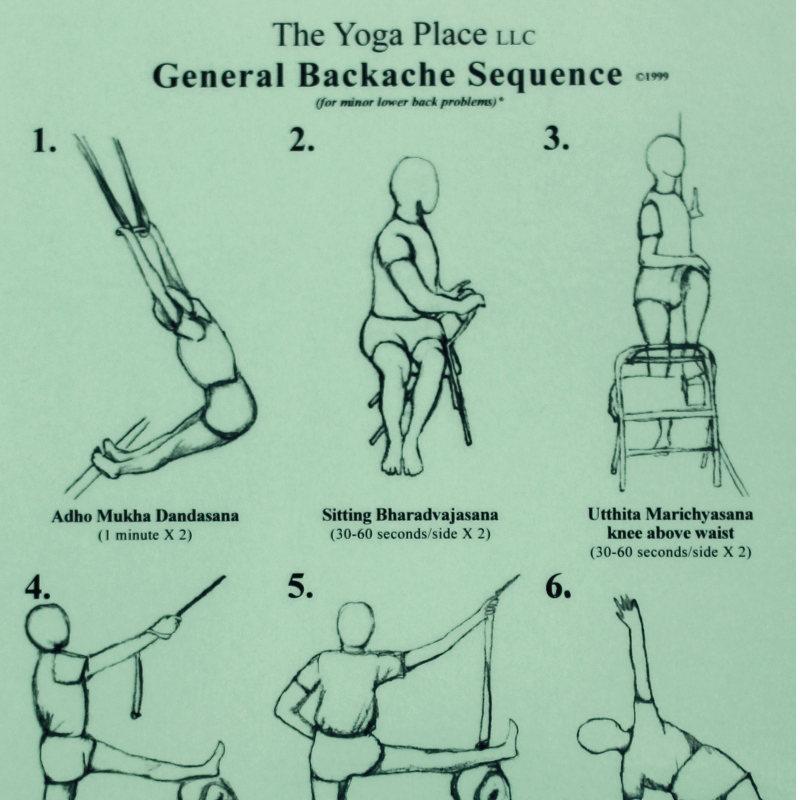 laminated General Backache Sequence - laminierte Übungssequenz Rückenschmerzen