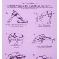 laminierte Übungssequenz High Blood Pressure - Übungssequenz Bluthochdruck