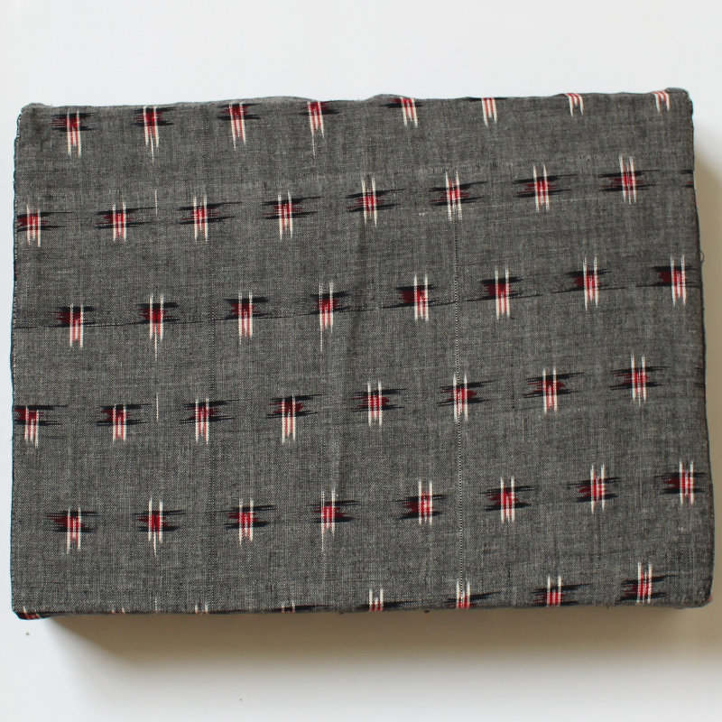 Bezug für Schulterstand-Polster 30 x 40 x 7 cm grau gemustert