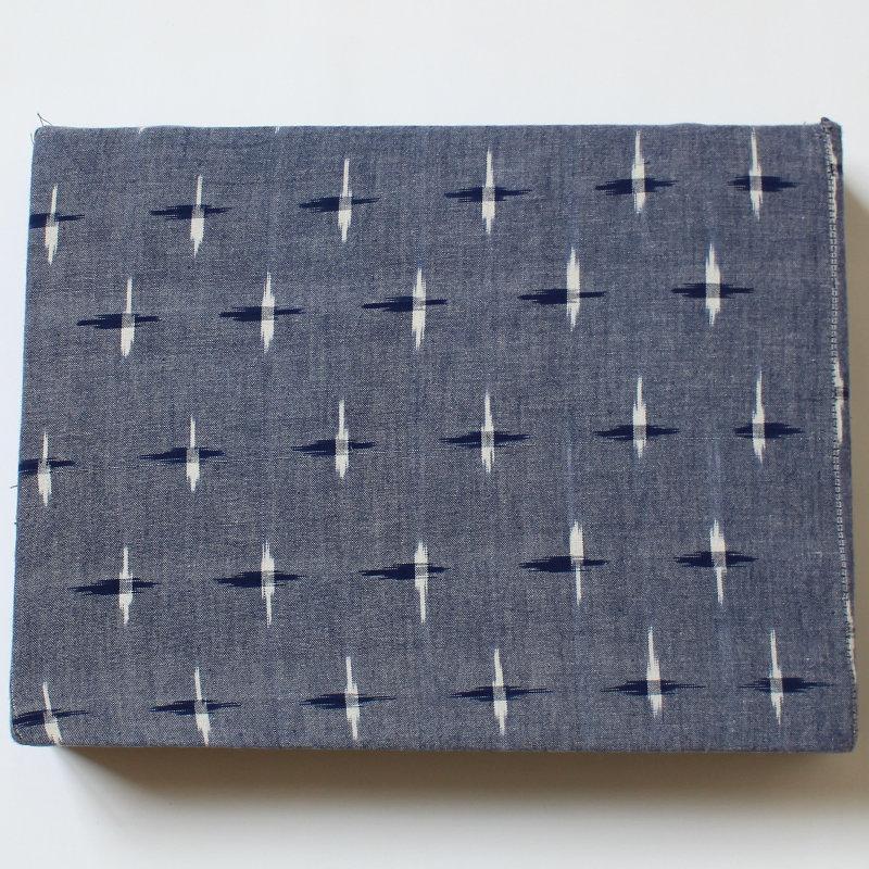 Bezug für Schulterstand-Polster 30 x 40 x 7 cm hellblau gemustert