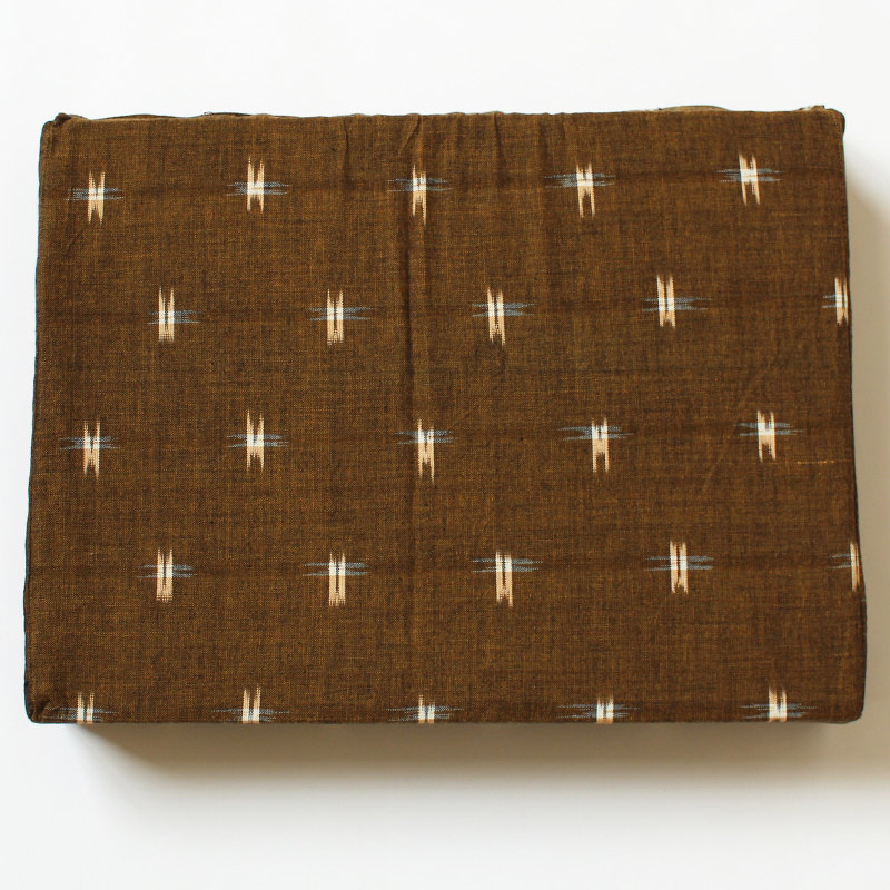 Bezug für Schulterstand-Polster 30 x 40 x 7 cm braun gemustert