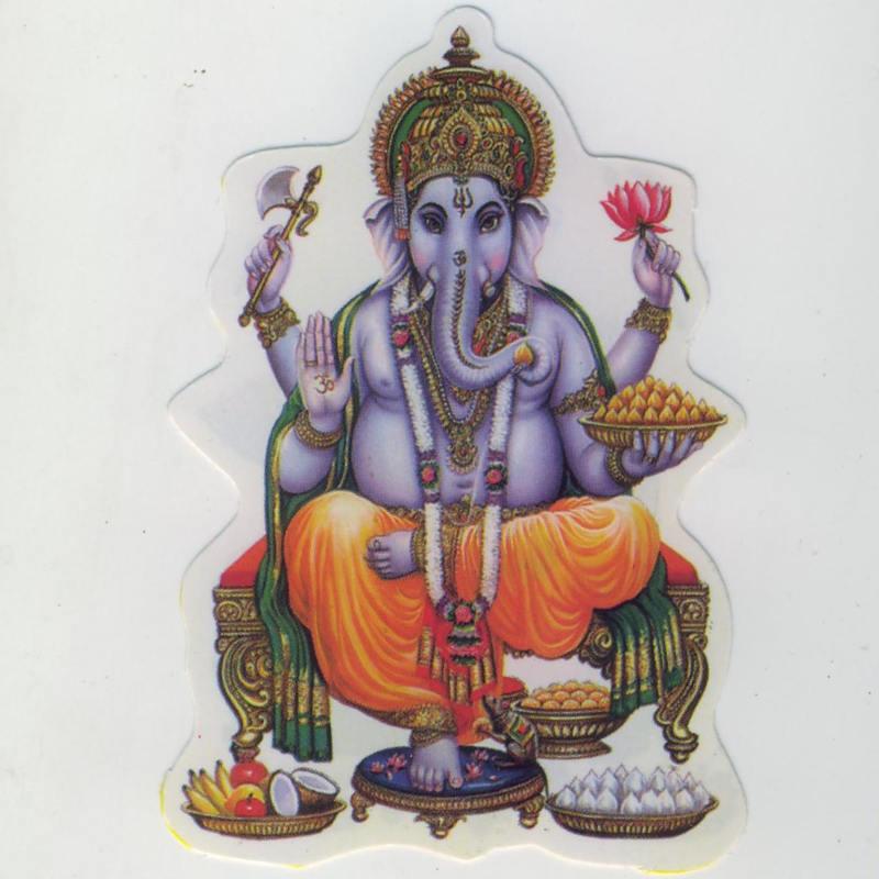 "Aufkleber Motiv ""Ganesha"""