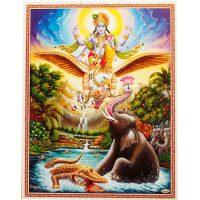Poster Vishnu mit Garuda