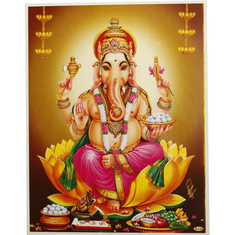 Poster von Ganesha mit Reittier