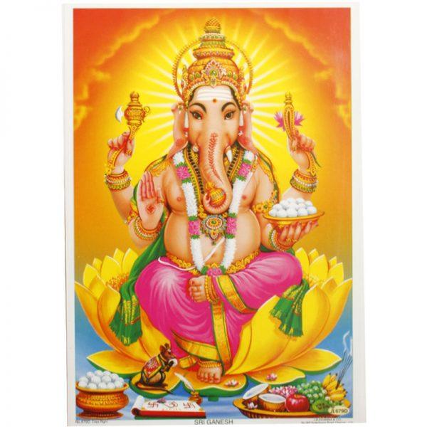 Poster mit Gott Ganesha