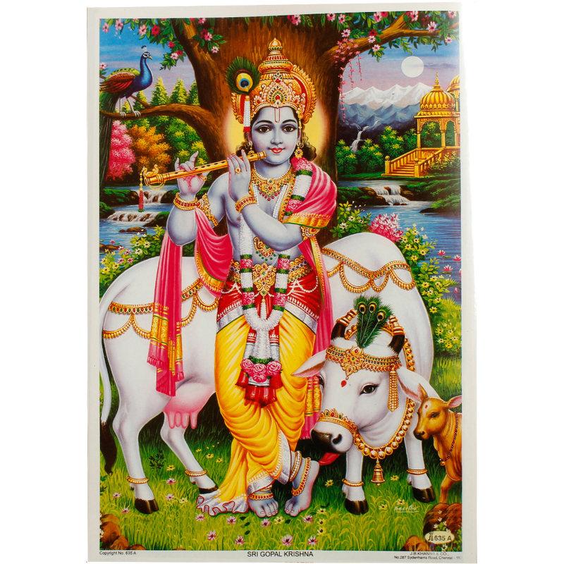 Poster Gott Krishna
