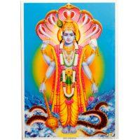 Poster mit Gott Vishnu - klein