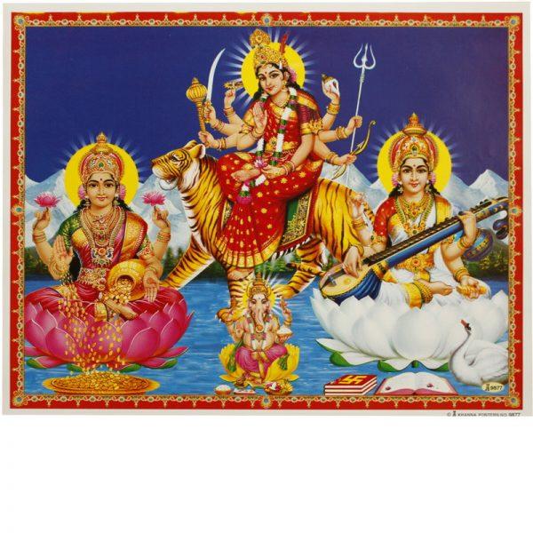 Poster Lakshmi-Durga-Saraswati
