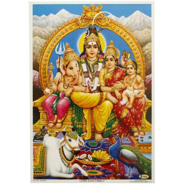 Poster mit Göttin Saraswati