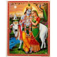 Poster: Krishna mit Radha