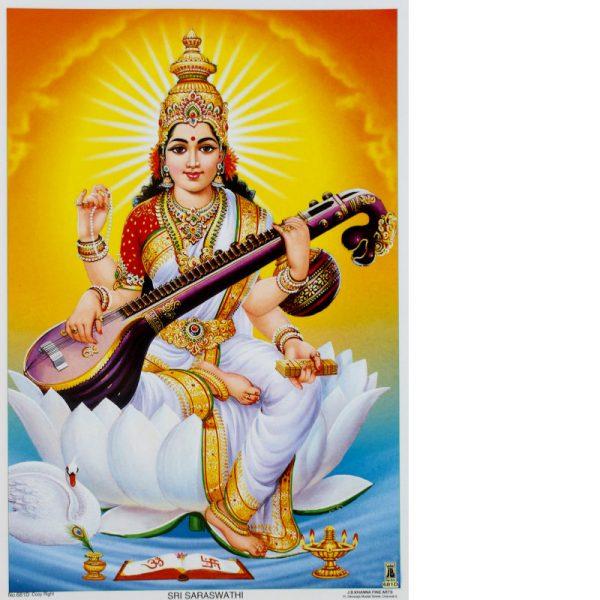 Poster Göttin Saraswati